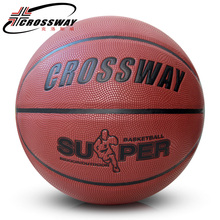 Wholesale CROSSWAY Brand  Basketball Ball PU Leather A+++ Quality Basketball Official Size 7&Weight Basketball Free Needle&Net