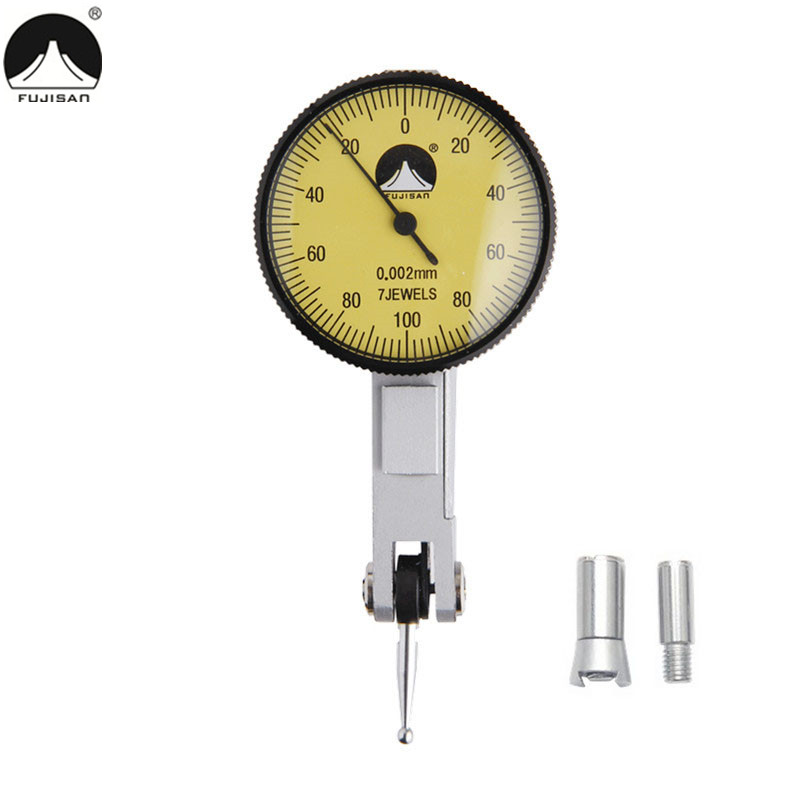 FUJISAN Dial Indicator 0-0.2mm/0.002mm Shockproof Dial Test Indicator Dial Gauge Measuring Tools<br>