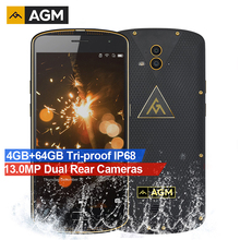 AGM X1 18K Gold Edition MSM8952 Octa Core IP68 Waterproof 5.5 inch Mobile Phones 4GB RAM 64GB ROM 5400mAh Fingerprint Smartphone