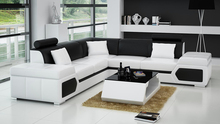 hot on sale modern leather sofa