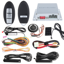 Quality auto PKE alarm system remote engine start stop, push button start, car passive keyless entry kit, touch password keypad(China)