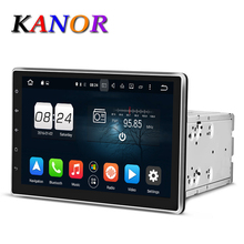 KANOR Android 6.0 1024*600 Octa Core 2G 10.1 inch Double 2 din Car GPS DVD Player Bluetooth Stereo Sat Nav RDS WIFI Multimedia