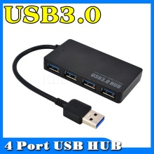 Kebidu Protable Compact Design 5Gbps USB 3.0 4 Port Hub USB3.0 Splitter Adapter Ultra Speed for Laptop Computer PC Power Supply