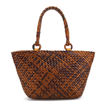 2017 New arrival Leather Women fashion hand Weaving handbag bag woman shoulder bags(China)