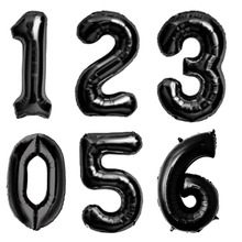 40 inch Black Number Foil Balloons Digit Helium Balloon Birthday Party Decorations Wedding Ballon Halloween Decor Party Supplies