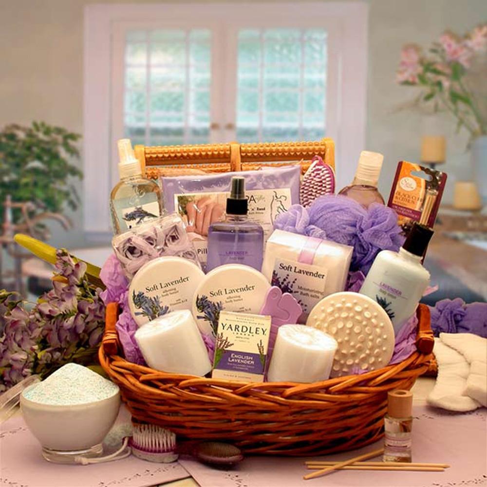 Gift Basket Drop Shipping The Essence Of Lavender Spa Gift Basket