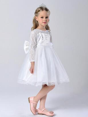 Free shipping High quailty Lace flower girl dresses for weddings Little girls Elegant dress 2-11age<br><br>Aliexpress