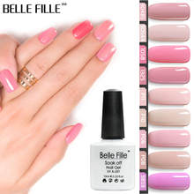 BELLE FILLE Pink Series Colors UV Gel Nail Polish 10ml Soak Off Polish Lacquer Nail Art Manicure Vernis Semi Permanent