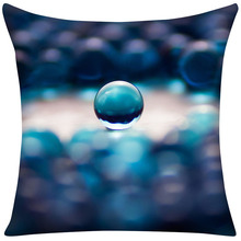 Decorative Pillow Case Camouflage colorful glass beads blue halo Cotton Linen Pillowcase For Bedroom Chair Seat Throw Pillowcase
