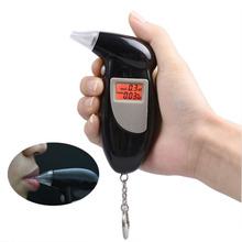 New Digital Breath Alcohol Tester With Audible Alert Safe Driving With Key Chain Quick Response Alcohol Detector Breathalyzer