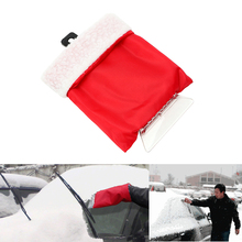 Useful Car Ice Scraper Gloves Keep Warm Handheld Scraper Removal Glove Car Cleaning Snow Shovel Clean Tool Auto Detailing(China)