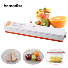 Homadise Automatic Electric Vacuum Food Sealer Household Packaging Machine Food Preservation Plastic Machine + 15pcs Vacuu Bags(China)