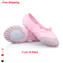 Basic Children Soft Sole Ballet Dance Shoes Girls Kids Dance Practice Shoes(China)