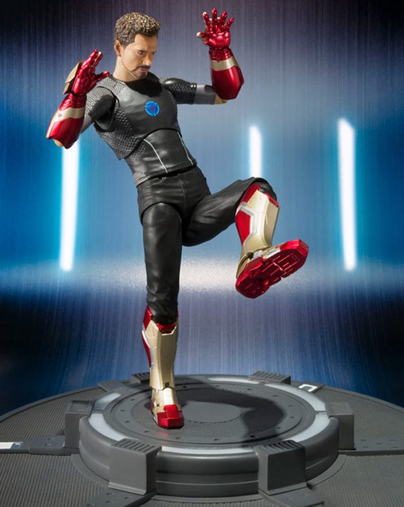 18cm Avengers Assemble Iron Man 3 Tony Stark Animated Doll Super Heroes PVC Action Figure Collection Model Toys (2)