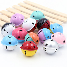 2Pcs Colorful Iron Loose Beads Jingle Bells Christmas Decoration Pendants DIY Crafts Handmade Accessories Size 40*40*34mm