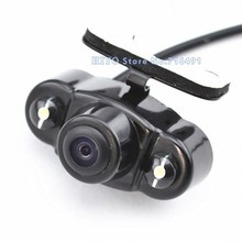 2Pcs/lot Parking Assistance System Universal HD CMOS 2 LED Night Vision Car Rear View Camera Backup side 170 degree waterproof(China)