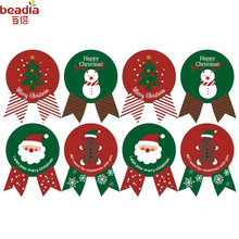 New Creative Useful Baking Package Decoration Christmas Man Snowman Pattern Biscuits /Cake Package(Box) Sealing Paste Supplies