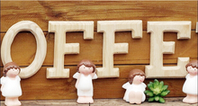 Height 15 cm Hot sale 26 Freestanding Wood Wooden Letters White Alphabet Wedding Party Home Decorations Having a wood smell(Bulgaria)