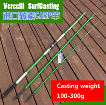 4.2 M casting Wt 100-300g 3 sections European SURFCasting ROD Carbon fishing rod Distance Throwing Rod Intervene throw carp rod
