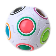 1* Fun Creative Spherical Magic Cube Speed Rainbow Puzzles Ball Football Kids Educational Learning Toys for Children Adult 2017