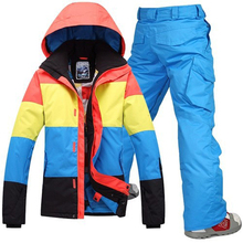2017 New Hot Sale Men Snowboard 2016new Mens Ski Jackets Skiing Jacket+warm Pants Snow Clothing Outdoor Sportwear Breathable