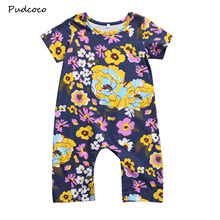 Buy Pudoco Cute Newborn Kids Baby Girls Floral Romper Jumpsuit Playsuit Outfit Fall Short Sleeve Infant Girls Clothes One-Piece 0-3Y for $3.84 in AliExpress store