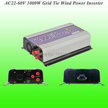 2017 Hot Selling 1000W Three Phase AC22V~60V Input, AC 115V/230V Output SUN-1000G-WAL-24V Grid Tie Wind Power Inverter