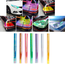 120*30cm Auto Car Headlights Taillights Light Car Film Stickers Car Accessories Chameleon Film For Auto Lamps New 2017