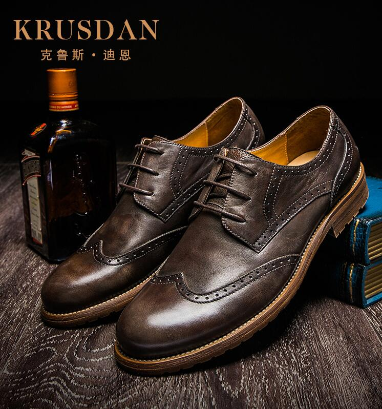 [KRUSDAN]Real Cow Genuine Leather Business Casual Shoes 2017 Spring New Men Driving British Bullock Dress Shoes Wear Loafer<br><br>Aliexpress