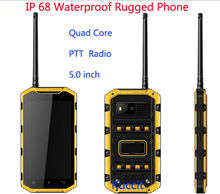 "Original V8 IP68 Waterproof Phone Rugged Android Smartphone Dustproof 5"" MTK6582 Quad Core  3G GPS PTT Walkie Talkie Radio"