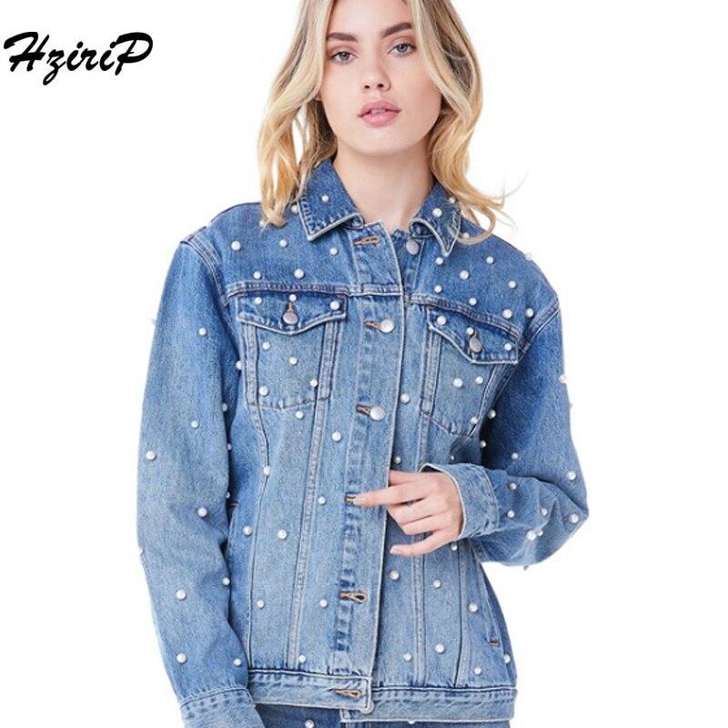2018 herbst Ausgefranste Jeans Jacke Damenmode Friesen Freund Lose Jaqueta Jeans Oversize jeansjacke