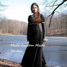 Custom Made Medieval Fantasy Black Dress TEA PARTY DRESS(China) ea52296764d4