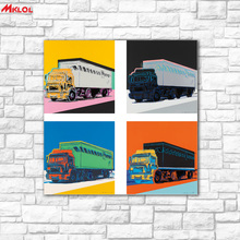 large wall art Truck Oil Painting Wall Art Picture Paiting Canvas Paints Home Decor Abstract Print Painting Modern Wall Decor(China)