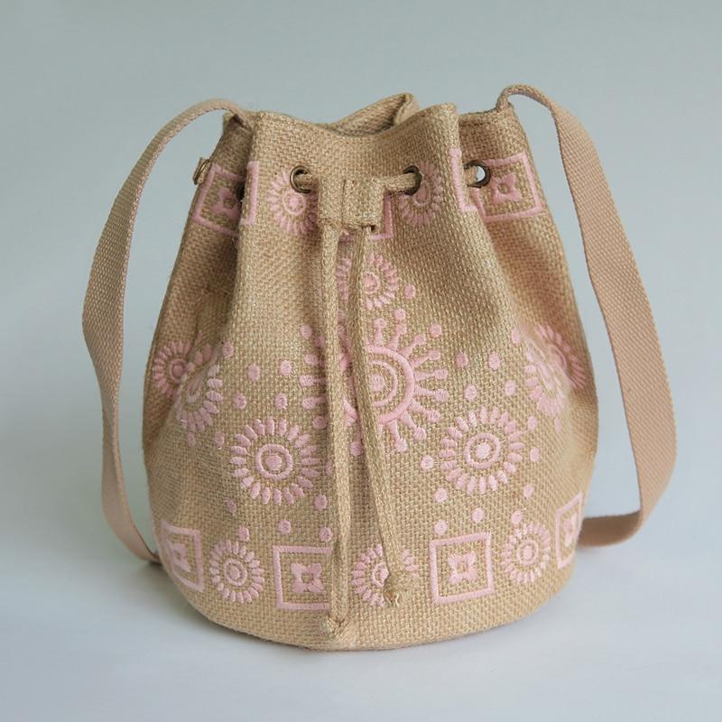 korean Japan cute style cotton drawstring Handmade bucket bag suede Messenger Bags designer handbags high quality national bag<br><br>Aliexpress