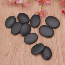 10PCS New Spa Rock Basalt Stone Beauty Stones Massage Therapy Lava Natural Stone 4*3CM(China)