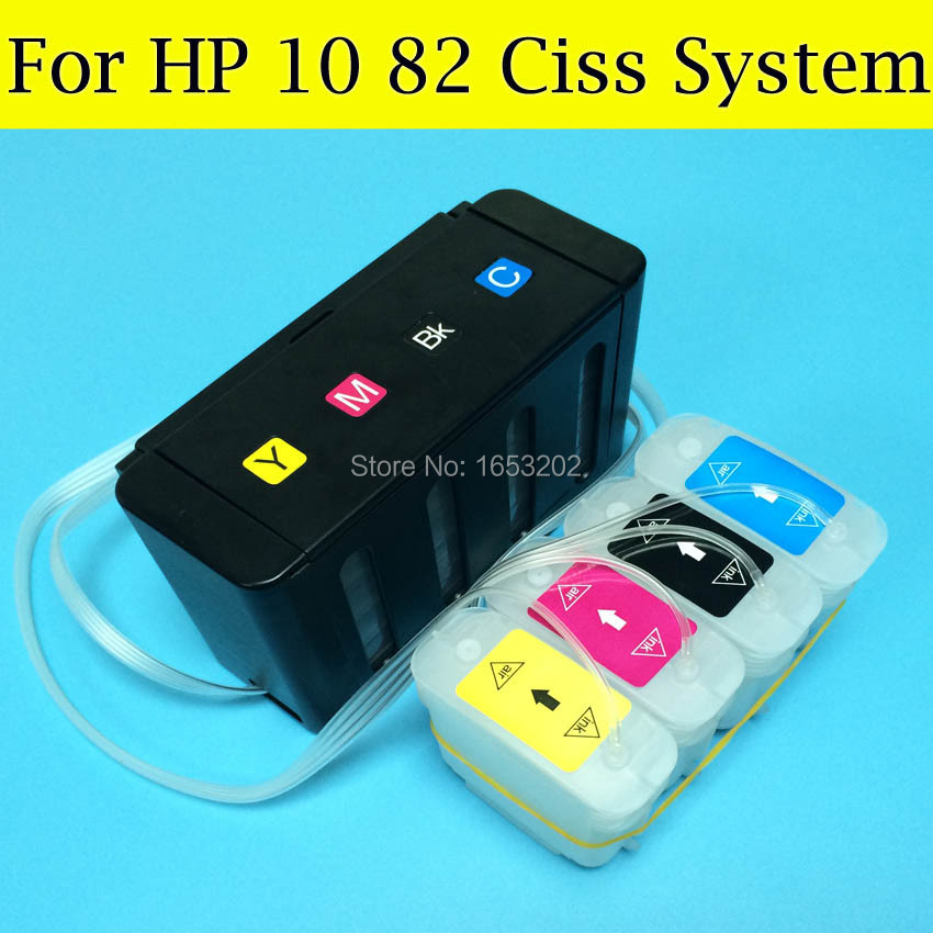 High Quality Ciss System For HP 10 82  Use For HP Designjet 500 800 815 500S 800S With ARC Chips<br><br>Aliexpress