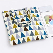 YILE Cotton Linen Lining Shoulder Bag ECO Shopping Tote Carrying Bag Geometric Pattern PP08