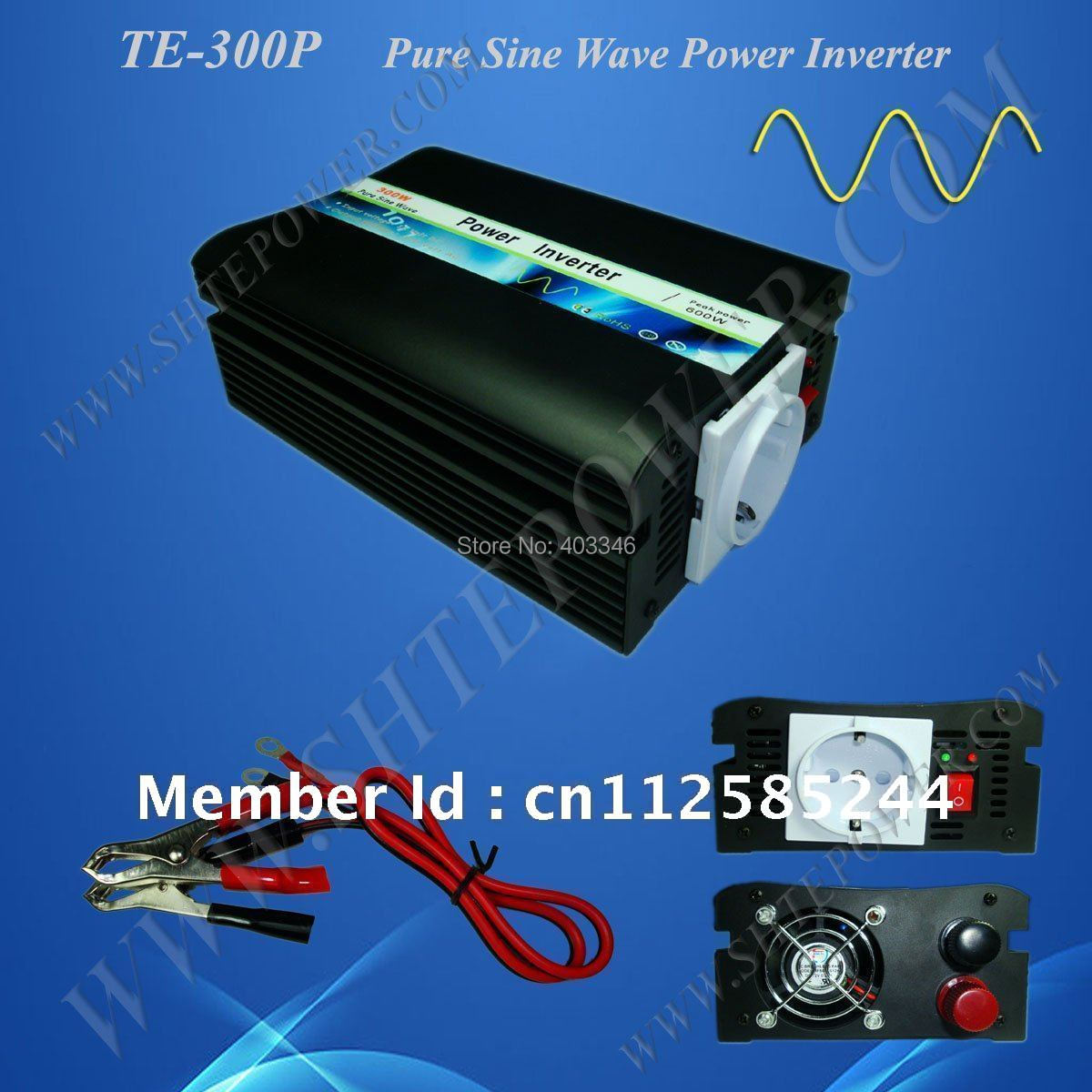 300w pure sine wave inverter , dc 12v  24vdc to 110v 220v  power inverter<br>