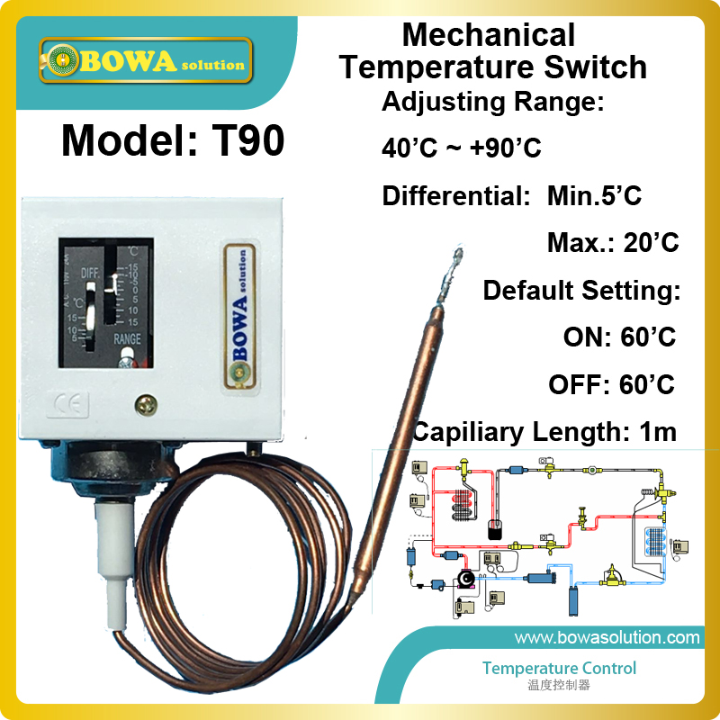 40 to 90 mechanical Temperature Switch for hot water supply automatically for heat pump water heater  temperature control<br><br>Aliexpress