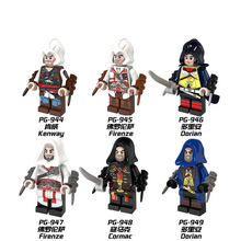 6pcs/Set Figures Building Blocks Sets china brand assassins creed compatible with Lego(China)