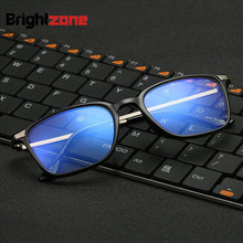 Retro Vintage Anti-blue Rays Blue Light Filter TR90 Plain Eyeglasses Clear Plano Computer Eye Glasses Men gafas oculos de grau