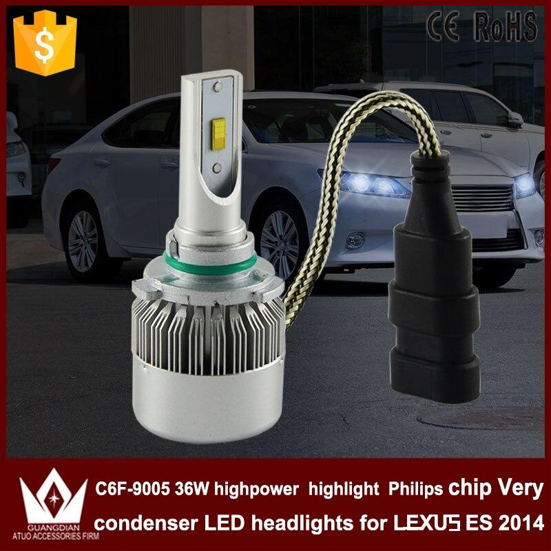 Night Lord 2pcs hot sale C6F HB3 9005 Headlight Head lamp with mute fan HIGH Beam for Lexus ES 2014 light source<br><br>Aliexpress