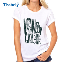 Tissbely Fashion London Girl Vintage T Shirts Women United Kingdom Nostalgic Pattern Popular Sexy Girl Graphic Tees Tops