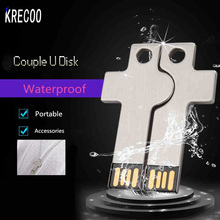 Top Sale Waterproof Couple Cross Metal Micro Usb Memory Disk 64GB 32GB 16GB 4GB Usb Flash Drive Mini Accessories U Disk