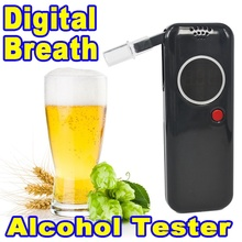 Kebidumei Police Professional alcohol tester Digital Breath Tester Breathalyzer Analyzer Red LED Backlight For Drive Safety(China)