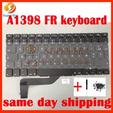 New French Keyboard For Apple Macbook Pro Retina 15'' A1398 French FR Keyboard without backlight backlit 2013 2014 2015year