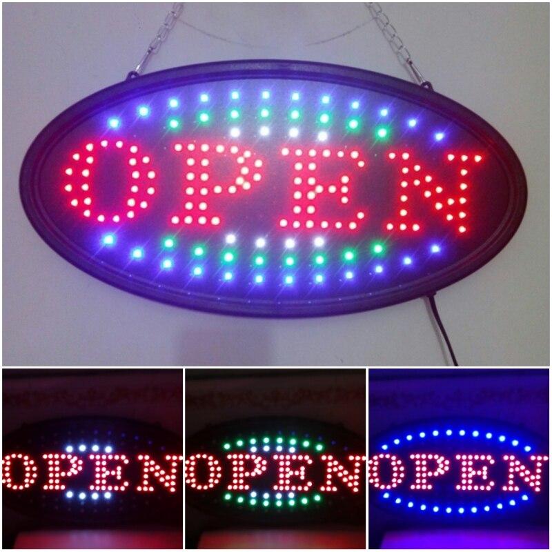 OPEN led door indication light led sign for stores  48*25*2cm <br>