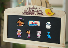 7pcs/set Cartoon Doc Mcstuffins fridge magnets toy Refrigerator Magnets Home Decoration school supplies kids Christmas Toys