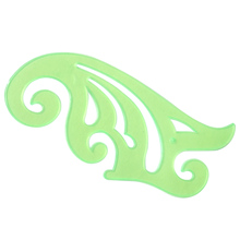 25cm Students Professional Plastic Clear Green Cloud Shaped Drafting Drawing Stencil French Curve Ruler Tool
