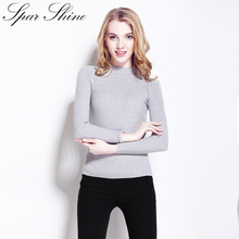 High quality cashmere Winter sweater pullover high collar turtleneck sweater 12 solid color women's basic Casual sweaters(China)